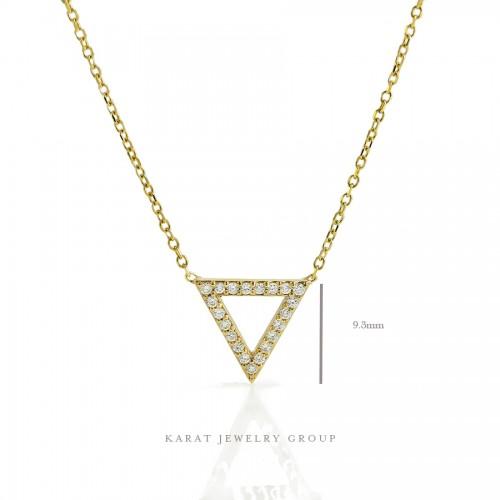 Triangle Diamond Pendant Necklace