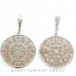 Drop Diamond Chandelier Earrings