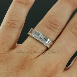 6mm Comfort Fit Mens Diamond Wedding Band