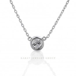 0.22ct. Bezel-Set Diamond Pendant