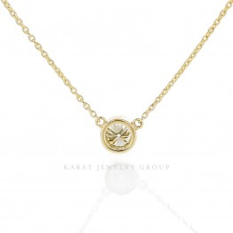 0.30ct. Bezel-Set Diamond Pendant