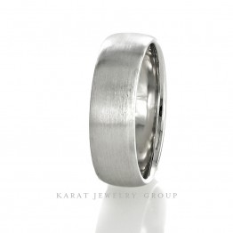 7mm Satin Finish Wedding Band in 14k White Gold