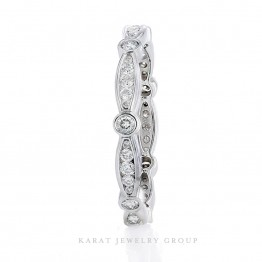 Diamond Eternity Wedding Band, Channel Set Wedding Band in White Gold