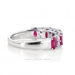Ruby and Diamond Wedding Ring