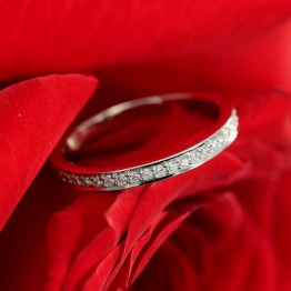 Eternity White Gold Wedding band with Natural Diamonds