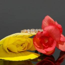 Diamond Wedding Band With Milgrain in 14k Rose Gold
