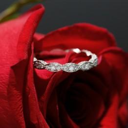 Eternity Diamond Wedding Band, 14k White Gold Wedding Band