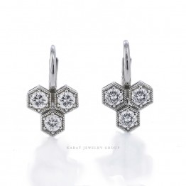 Diamond Honeycomb Earrings