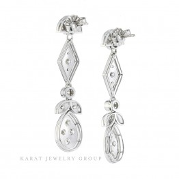Diamond Vintage Style Drop Earrings