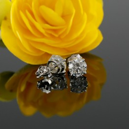 Stud Earrings Mountings with Diamond Jackets