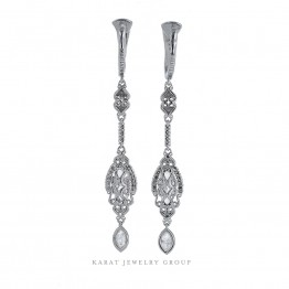 GIA D Color Diamond Earrings