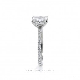 GIA Radiant Cut Solitaire Engagement Ring