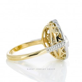 Diamond Cocktail Ring in Platinum and  18kt.Yellow Gold