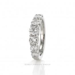 7 stones 1.38ct. Graduated Diamonds Wedding Ring