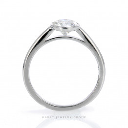 Solitaire Engagement Ring with Lab Grown Diamond in 14K White Gold