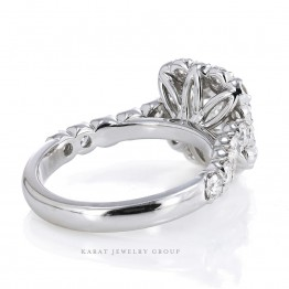 AGL Certified Radiant Cut Halo Engagement Ring