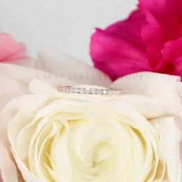 14k Rose Gold Eternity Diamond Wedding Band