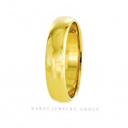 5mm Comfort Fit Men's Wedding Band in 18K Yellow Gold