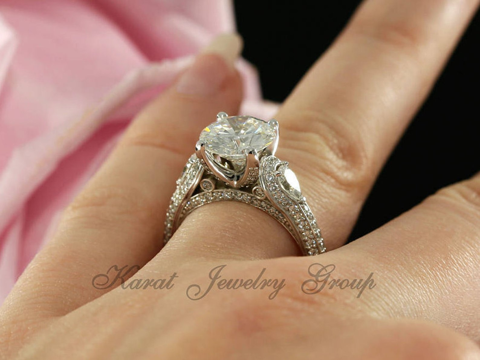 Moissanite ring hinsdale